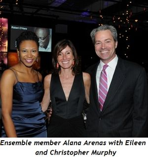 9 - Ensemble member Alana Arenas with Eileen and Christopher Murphy