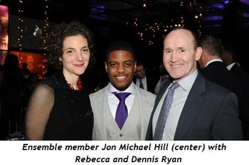 11 - Ensemble member Jon Michael Hill (center) with Rebecca and Dennis Ryan