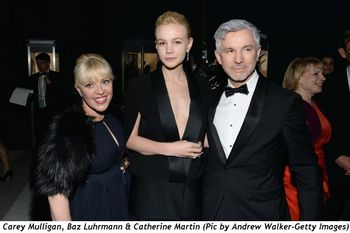 2 - Carey Mulligan, Baz Luhrmann and Catherine Martin (Pic by Andrew Walker-Getty Images)