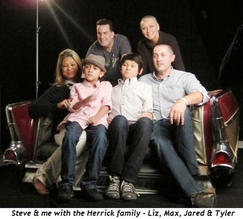 Steve and me with the Herrick family - Liz, Max, Jared and Tyler