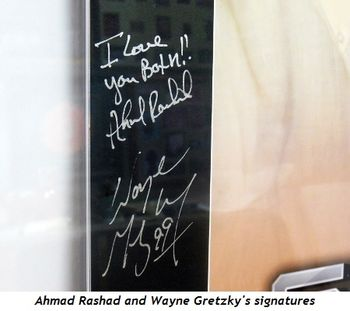 4 - Ahmad Rashad and Wayne Gretzky's signatures