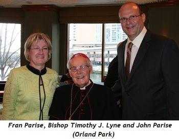(L-R) Fran Parise, Bishop Timothy J. Lyne, John Parise (Orland Park)
