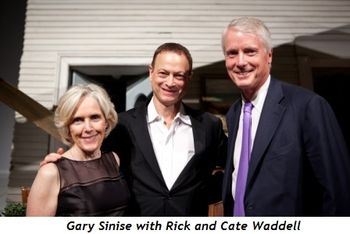 10 - Gary Sinise with Rick and Cate Waddell