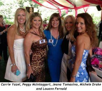 9 - Carrie Yazel, Peggy McIntaggart, Jeana Tomasino, Michele Drake and Louann Fernald