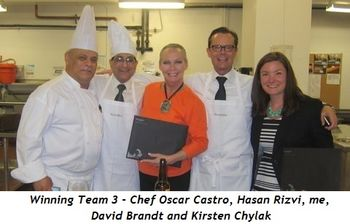 1 - Winning Team 3 - Chef Oscar Castro, Hasan Rizvi, me, David Brandt and Kirsten Chylak