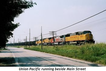 9 - Union Pacific running beside Main Street