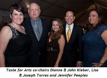 2 - Taste for Arts co-chairs Dianne and John Kleber, Lisa and Joseph Torres and Jennifer Peeples