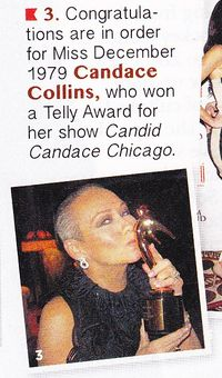 Candid Candace Chicago Show in this month's PLAYBOY