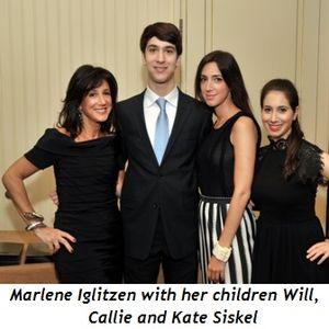 6 - Marlene Iglitzen with her children Will, Callie and Kate Siskel