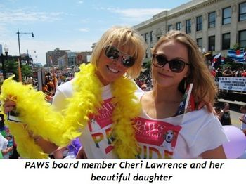 5 - PAWS board member Cheri Lawrence and her beautiful daughter