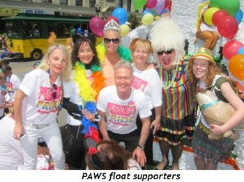 7 - PAWS float supporters