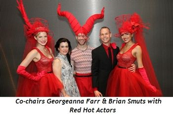1 - Co-chairs Georgeanna Farr and Brian Smuts with Red Hot Actors