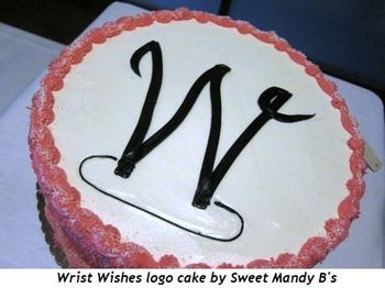 3 - Wrist Wishes logo cake by Sweet Mandy B's