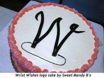 3 - Wrist Wishes logo cake by Sweet Mandy B's