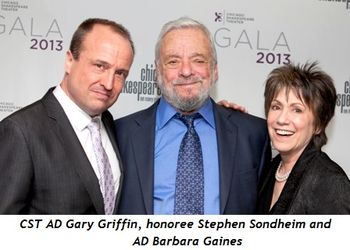8 - CST AD Gary Griffin, honoree Stephen Sondheim and AD Barbara Gaines