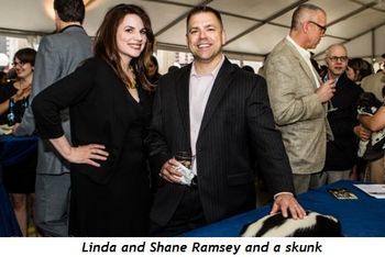 Linda and Shane Ramsey and skunk