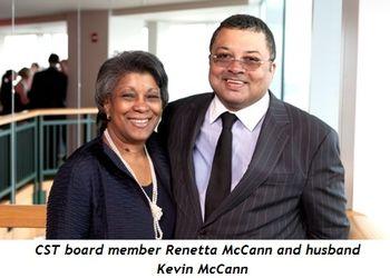 CST board member Renetta McCann and husband Kevin McCann