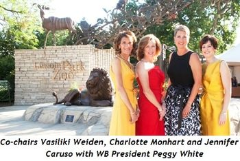 1 - Co-chairs Vasiliki Weiden, Charlotte Monhart and Jennifer Caruso with WB President Peggy White