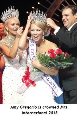 Amy Gregorio is crowned Mrs. International 2013