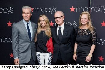 3 - Terry Lundgren, Sheryl Crow, Joe Feczko and Martine Reardon