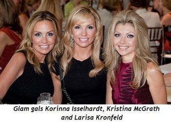 5 - Glam gals Korinna Isselhardt, Kristina McGrath and Larisa Kronfeld