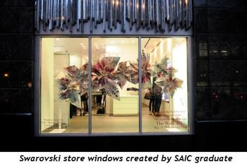 3 - Swarovski store windows created by SAIC graduate students