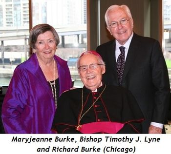 (L-R) Maryjeanne Burke, Bishop Timothy J. Lyne, Richard Burke (Chicago)