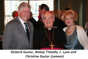 (L-R) Richard Guzior, Bishop Timothy J. Lyne, Christine Guzior (Lemont)