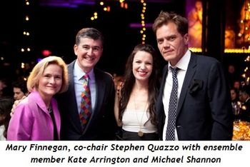 8 - Mary Finnegan, co-chair Stephen Quazzo with ensemble member Kate Arrington and Michael Shannon