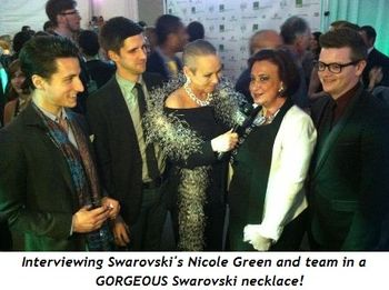 5 - Interviewing Swarovski's Nicole Green and team in a GORGEOUS Swarovski necklace!
