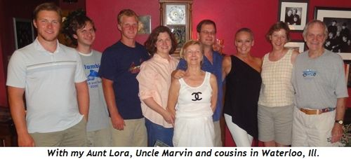 15 - With my Aunt Lora, Uncle Marvin and cousins in Waterloo, Ill.