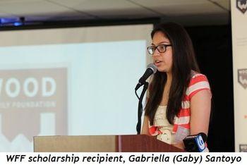 1 - WFF scholarship recipient, Gabriella (Gaby) Santoyo