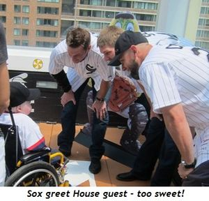 2 - My fav pic--Sox greet House guest, too sweet!