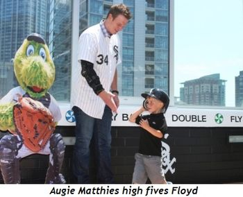 10 - Augie Matthies high fives Floyd