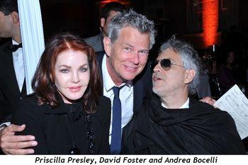 1 - Priscilla Presley, David Foster and Andrea Bocelli