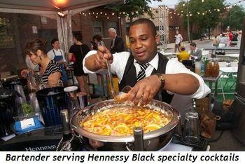 7 - Bartender serving Hennessy Black specialty cocktails