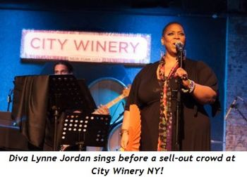 Diva Lynne Jordan sings before a sell-out crowd at City Winery NY!