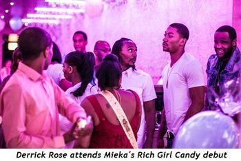 2 - Derrick Rose attends Meika's Rich Girl Candy debut