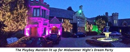 3 - Playboy Mansion lit up for Midsummer Night's Dream Party