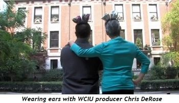 1 - Wearing ears with WCIU producer Chris DeRose