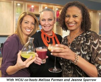 2 - With WCIU co-hosts Melissa Forman and Jeanne Sparrow