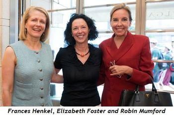 Frances Henkel, Elizabeth Foster and Robin Mumford