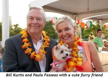 Bill Kurtis and Paula Fasseas with cute friend