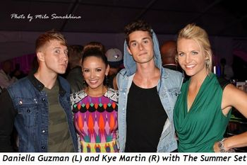 23 - Daniella Guzman (L) and Kye Martin (R) with The Summer Set