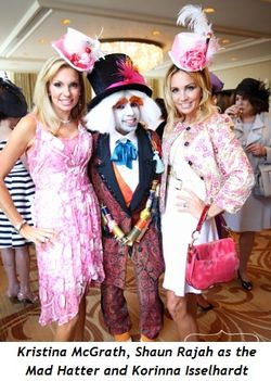 5 - Kristina McGrath, Shaun Rajah as the Mad Hatter and Korinna Isselhardt