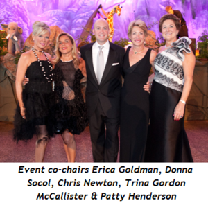 1 -Event co-chairs Erica Goldman, Donna Socol, Chris Newton, Trina Gordon McCallister, Patty Henderson