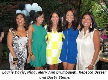 2 - Laurie Davis, Nina, Mary Ann Brumbaugh, Rebecca Besser and Dusty Stemer