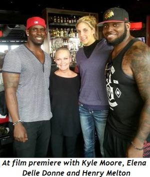 1 - At film premiere with Kyle Moore, Elena Delle Donne and Henry Melton