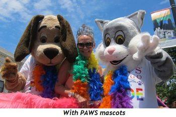 9 - With PAWS mascots