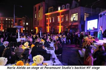 8 - Maria Aleida on stage at Paramount Studio's backlot NY stage